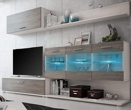 homesouth zafiro mueble salon luces led